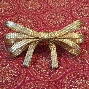 Accessories - Beautiful Large Vintage French Goldtone Barrette